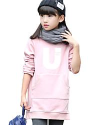 Pull à capuche & Sweatshirt Fille de Couleur Pleine Décontracté / Quotidien Coton / Spandex Hiver Noir / Rose / Rouge