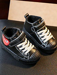 Boy's Sneakers Comfort Leather Casual Black / Gray