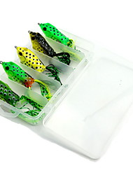 5 pcs Hard Bait Fishing Lures Frog Random Colors g/Ounce mm inch,Hard Plastic Bait Casting