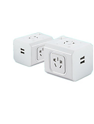 (Note * Overload Protection With Switch 1 To 5) Creative Cube Socket Vertical Insert