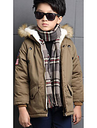 Boy's Casual/Daily Solid Suit & BlazerCotton Winter Brown / Purple
