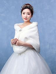 Women's Wrap Capelets Faux Fur Wedding / Party/Evening Pattern / Rhinestone