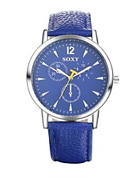 Men's Dress Watch / Fashion Watch Quartz Water Resistant/Water Proof Leather Band Casual Black / White / Blue Brand
