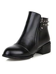 Women's Zipper Round Closed Toe Low Heels Low Top Boots
