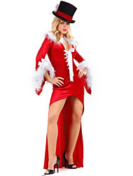 Women'S  Bondage Christmas Long Gown Dress Back Bow Hollow