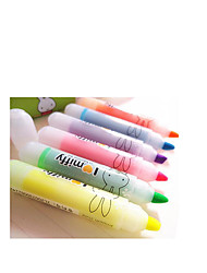 Mini-Head Highlighter Six-Color SuitsA Pack of 3 Suits