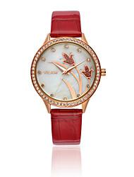 Vilam Dámské Náramkové hodinky Křemenný Voděodolné Kůže Kapela Třpyt Luxusní Bílá Bílá Černá Červená Modrá