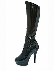 Women's Boots Spring / Winter / Fashion Boots Patent Leather Party & Evening / Dress / Stiletto Heel ZipperBlack /