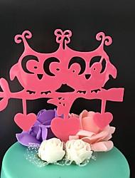 Decorações de Bolo Não-personalizado Monograma Acrilíco Aniversário Flôr Rosa Tema Clássico 1 Caixa Oferta