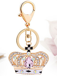 Crystal Crown Pendant Automobile Key Ring Chain