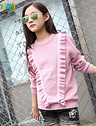 Girl's Casual/Daily Solid Sweater & CardiganPolyester Fall Pink / Gray