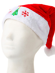 Flash Embroidered Christmas Hat Snow And Tree