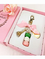 Metal Tower Key Ring Makalong Cake Car Key Ring