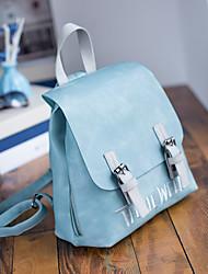 Women PU Casual / Outdoor / Shopping Backpack Pink / Blue / Gray / Black