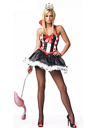 Costumes de Cosplay / Costume de Soirée Conte de Fée Fête / Célébration Déguisement Halloween Rouge / Bleu Imprimé Robe / Coiffure