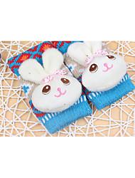 2016 new Korean fashion half-finger gloves warm gloves three-dimensional cartoon rabbit Ms.