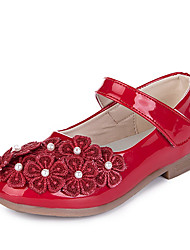 Girl's Flats Others Comfort PU Outdoor Casual Applique Magic Tape Black Red Peach Others