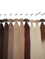 neitsi 20 polegadas 1g s 100g ombre nail / fusion queratina u ponta reta 100% de extensões de cabelo humano