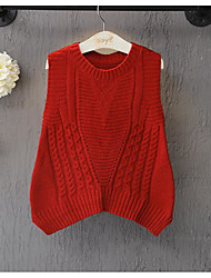 Girl's Casual/Daily Solid Sweater & Cardigan / VestCotton Spring / Fall Red / Gray