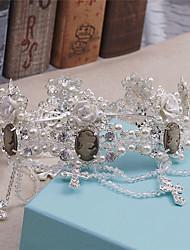 Women's Rhinestone / Imitation Pearl Headpiece-Wedding / Special Occasion / Casual Tiaras / Wreaths 1 Piece