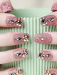 невеста маникюр прекрасный патч ногтей закончил красные накладные ногти ногти