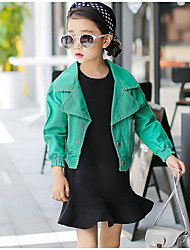 Girl's Going out Solid Suit & Blazer / Jacket & CoatCotton Spring / Fall Green / Pink