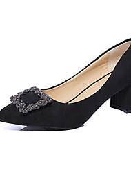 Women's Heels Spring Summer Fall Comfort PU Casual Low Heel Black Yellow Red Gray Fuchsia Other