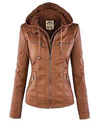 Women Fashion Autumn Winter Coat Jacket long sleeve zipper