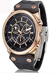 Masculino Relógio Esportivo / Relógio Militar / Relógio Elegante / Relógio de Moda / Relógio de Pulso Quartz Impermeável / Punk Silicone
