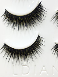Eyelashes lash Full Strip Lashes Eyes Thick Handmade Fiber Black Band 0.07mm 13mm