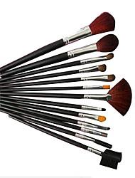 13 Makeup Brushes Set Goat Hair Portable Wood Face NFSS