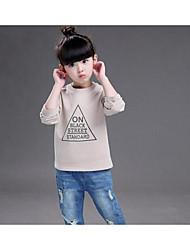 Girl Casual/Daily Print Hoodie & Sweatshirt,Cotton Fall Long Sleeve Short