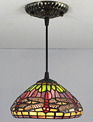 25W Pendant Light   Tiffany / Retro Painting Feature for Mini Style Metal Bedroom / Entry