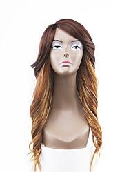 nouveau style cheveux bruns dentelle avant ondulées naturelle perruques synthétiques
