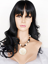 Brazilinan Human Hair  Long Length Full Lace Wigs Body Wave Lace Wig With Bangs