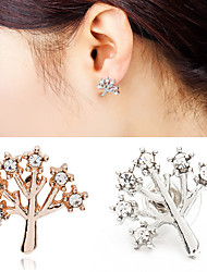 Women's Gold Silver Black Christmas Tree Life Stud Earrings (1 Pair)