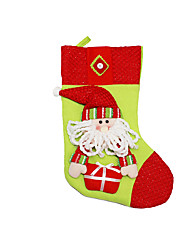Christmas Decorations / Christmas Toys Holiday Supplies 3Pcs Christmas Textile White / Yellow / Beige