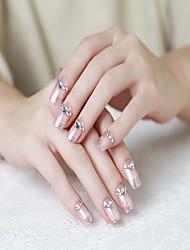 24 peças de goma de uma decoração diamante falso remendo manicure acabados