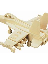 Puzzles Puzzles en bois Building Blocks DIY Toys Carré / Avion 1 Bois Ivoire