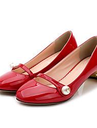 Women's Heels Spring / Summer / Fall Comfort  Casual Chunky Heel Pearl Black / Pink / Red / Gray Walking