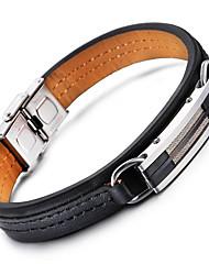 Kalen® New  Leather Bracelets 316L Stainless Steel Shiny Charm Bracelets Men's Fashion Accessories Cool Gifts