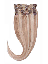 Clip In Human Hair 14-26 100% Hair Extentions #27/613 Straight Hair Extensions 8A Incomparable