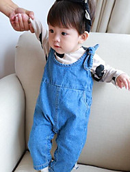 Baby Casual/Daily Solid Overall & JumpsuitCotton Spring / Fall Blue