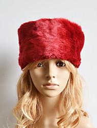 Women Faux Fur Ski Hat Cute / Casual Winter Red / Brown / Khaki