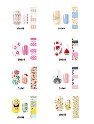 D Series Cartoon Nail Stickers