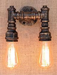 ac 220v-240v 40w e27 nostalgie bg820-2 tuyau d'eau simple, lampe décorative petite paroi murale