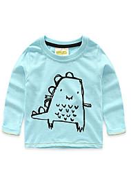 Tee-shirts Boy Couleur Pleine Décontracté / Quotidien Coton Automne Bleu