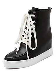 Women's Round Closed Toe Low Top High Heels Boots