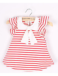 Baby Casual/Daily Striped DressCotton Summer Black / Red