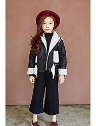 Girls' Casual/Daily Solid Jacket & Coat,Cotton Winter Long Sleeve